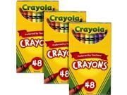 Crayola Classic Color Crayons, 48 Assorted Colors, Three boxes of 48