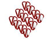 "SecureLine 2"" Bright Spring Link Carabiner 1/4In Clip, Pack of 24, Red"