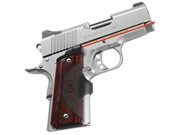 Crimson Trace Corporation Master Series Laser Grip, Fits 1911 Officer's/Defender, Natural Rosewood, Micro-Compact Diode,