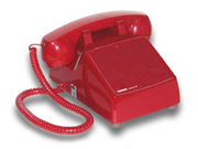 No Dial Desk Phone Red