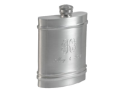 Triband 6oz Genuine Pewter Hip Flask