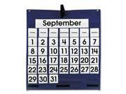 Monthly Calendar 43-Pocket Chart with Day/Week Cards, Blue, 25 x 28 1/2 - CDP158156