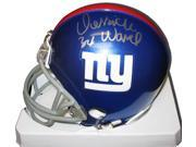DERRICK WARD SIGNED NEW YORK GIANTS RIDDELL MINI HELMET - DSD528210