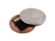 Covert Hollow Spy Coin Micro SD Card Holder (Quarter)
