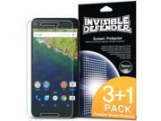 Ringke® Screen Protector for Huawei Nexus 6P, Invisible Defender HD Clarity Film [3+1 Film Pack]