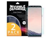 Galaxy S8 Screen Protector, Invisible Defender [Full Coverage] 2-Pack Edge to Edge Curved Side Coverage Thin HD Clearness Film 9SIA1D05PW9857