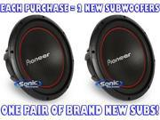 """Pair of Pioneer TS-W304R 12"""" Single 4 ohm Champion Series Component Car Subwoofers"""