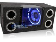 Pyramid - Dual 10'' 1000 Watt Bandpass Speaker System w/Neon Accent Lighting 9SIV0036949387
