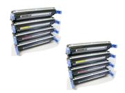 Cisinks ® 8 Pack Remanufactured Black,Cyan,Yellow,Magenta Laser Toner Cartridge for Hewlett Packard (HP) Q5950A Q5951A Q5952A Q5953A 643A Color LaserJet 4700 4700DN 4700DTN 4700N Laser Printer