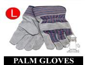 Leather Palm Industrial Work Gloves LARGE 10 Dozen = 120 Pairs