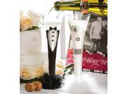 Bride and Groom Champagne Trumpet Flute Set