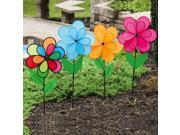 Solid Bright Colors Double Flower Wind Spinners