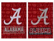 Suede Alabama Crimson Tide Glitter Accented Double Sided Garden Flag