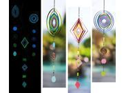 Glow In The Dark Geometric Shapes Wind Spinner Mobiles