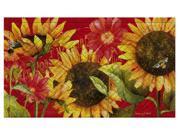 Evergreen Sunflower GardenEmbossed Floor Mat, 18 x 30 inches