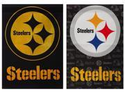 Team Sports America PIttsburgh Steelers Glitter Suede House Flag, 29 x 43 inches 9SIA1DZ3GX6223