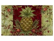 Evergreen Welcome PineappleEmbossed Floor Mat, 18 x 30 inches