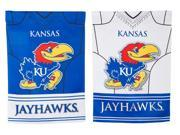 Team Sports America Kansas Jayhawks Double Sided Jersey Suede Garden Flag, 12.5 x 18 inches 9SIA1DZ6KK1895
