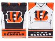 Team Sports America Cincinnati Bengals Double Sided Jersey Suede Garden Flag, 12.5 x 18 inches 9SIA1DZ6P73795