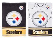 Team Sports America Pittsburgh Steelers Double Sided Jersey Suede Garden Flag, 12.5 x 18 inches 9SIA1DZ6P73809