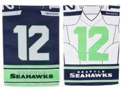 Team Sports America Seattle Seahawks Double Sided Jersey Suede Garden Flag, 12.5 x 18 inches 9SIA1DZ6P73789