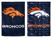 Team Sports America Denver Broncos Glitter Suede House Flag, 29 x 43 inches 9SIA1DZ6XN7550