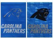 Team Sports America Carolina Panthers Glitter Suede House Flag, 29 x 43 inches 9SIA1DZ52H0033