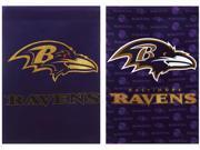 Team Sports America Baltimore Ravens Suede Garden Flag, 12.5 x 18 inches 9SIA1DZ3GX8890