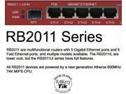 MikroTik 2011iLS-IN, RB2011iLS-IN, Gigabit Router SFP 5 port PoE OSL4 FTTH