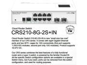 Mikrotik CRS210-8G-2S+IN,Gigabit Cloud Router layer 3 Switch 8 port SFP PoE OSL5