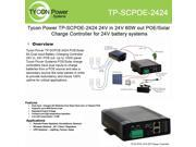 Tycon POE Solar Dual input battery charging controller. 24V in 24V out 5A
