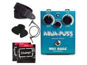 Way Huge Aqua Puss Delay Guitar Pedal  Bundle pack