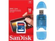 SanDisk 16GB Class 4 SD SDHC Flash Memory Card 16G SDSDB-016G 16 GB GIG with Memory Card Reader FOR Digital Camera GPS Tablet