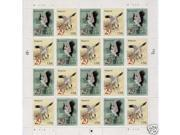 Wooping Crane pane of 20 x 29 cent U.S. Stamps 1994