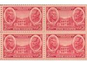 Jackson & Scott Set of 4 x 2 Cent US Postage Stamps NEW Scot 786