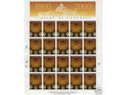 Library of Congress 200 birthday pane 20 x 33 cent U.S.