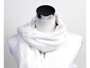 Women's White Solid Pashmina Scarf - HPP1001