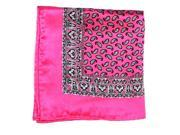Printed Silk Hanky fuscia grey wine PSH6