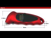 Red Digital Tire Pressure Gauge
