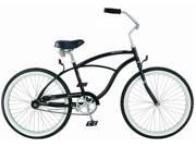 Firmstrong Urban Man 24 Single Speed Black Men s 24 Beach Cruiser Bike