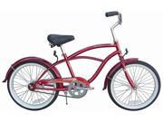 "Firmstrong Urban Boy 20"" Beach Cruiser Bicycle, Red"