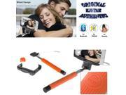 Original Kjstar Wired Selfie Stick Z07-7 for iPhone & Android Phone - Orange