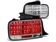 Ford Mustang Sequential Chrome Clear Led Tail Lights
