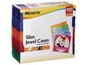 Memorex Slim Jewel Case - 100 Pack