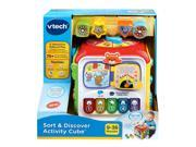 VTech Sort Discover Activity Cube Red