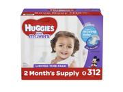 Huggies Little Movers Size 4 (22 - 37 lbs.) Mega Colossal Pack (312 ct.)