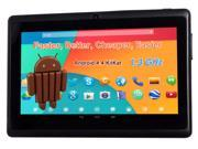 "7"" 1024* A23 1.3Ghz Android 4.4 Capacitive Dual Camera Tablet PC Black"