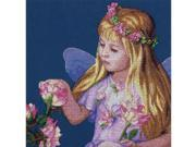 "Rose Fairy Counted Cross Stitch Kit-11""""X11"""" 14 Count"" 9SIA17P4N24006"
