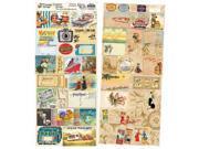 "Heartwarming Vintage Creative Scraps Dble-Sided 9.5""X8"" Fold-Travel"