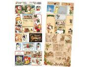 """Heartwarming Vintage Creative Scraps Dble-Sided 9.5""""X8"""" Fold-Merry Christmas"""